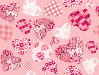Seamless pattern for Valentine's day
