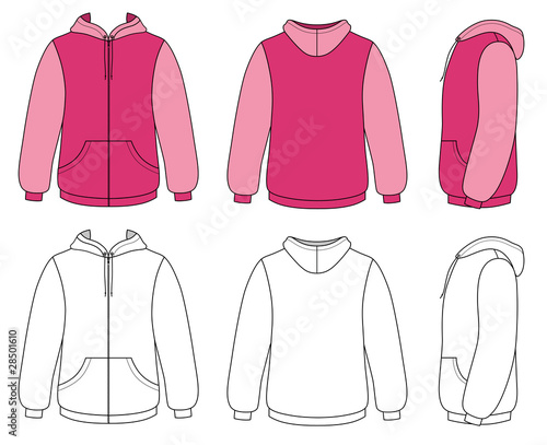 Template vector illustration of a blank hoodie stock image and template vector illustration of a blank hoodie pronofoot35fo Choice Image