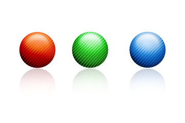 3d illustration of balls
