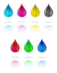 CMYK & RGB Water Droplets
