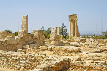 Ruins of the Sanctuary of Apollo Hylates near Limassol, Cyprus
