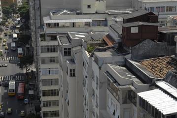Brésil Rio maison sur le toit