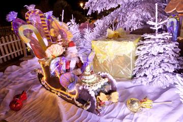 Père Noël dans son traineau