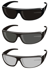 Vector set of trendy sunglasses - fashion, sports, beauty