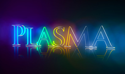 3D Typografie Plasma