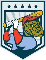 baseball player viper snake batting shield