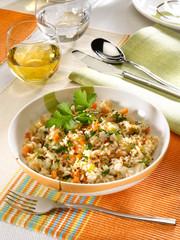 risotto de poisson épicé - spicy fish risotto