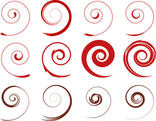 rot Floral Spiralen Pflanzen