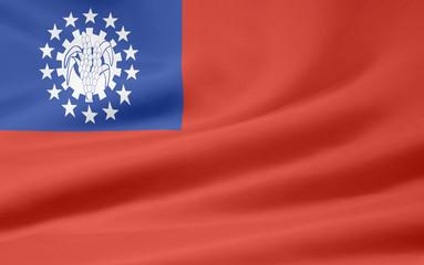 Flagge von Myanmar - alt