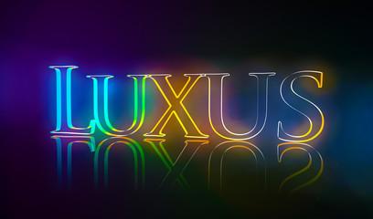 3D Typografie Luxus