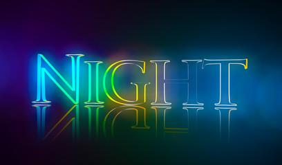 3D Typografie Night