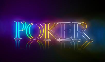 3D Typografie Poker
