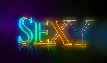 3D Typografie Sexy