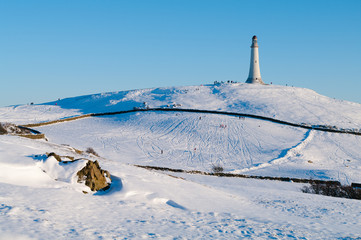 Hoad Hill in the snow