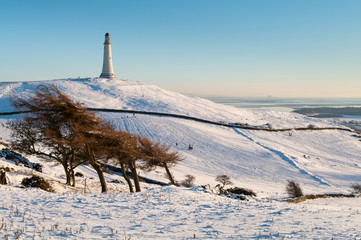 Hoad Monument in the snow