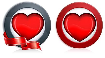 Heart in round