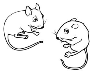mice outline
