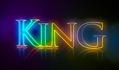 3D Typografie King