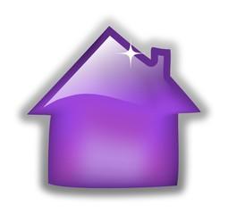 Glossy purple home icon