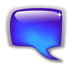 Glossy blue bubble for speech