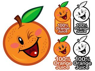 Happy 100% Orange Juice Seal