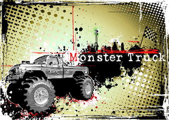 monster truck horizontal poster