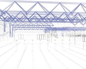 sport palasport rendering 3d linee illustrazione progetto