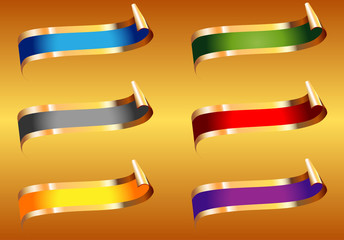 Silk ribbons in different colors