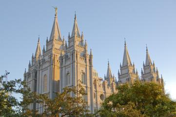 Mormon Temple in Salt Lake City Utah Wall mural