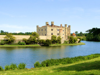 Leeds Castle and moat, England