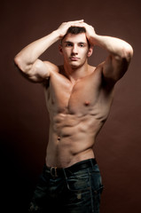 muscled model