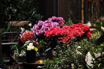 Roses at a florist stal