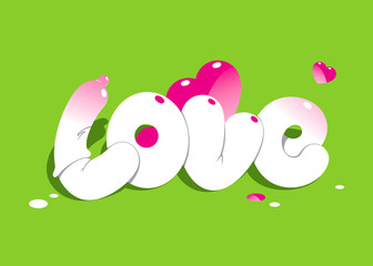 Lettering LOVE. For themes like love, valentine's day, holidays.
