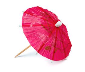 Pink paper cocktail umbrella