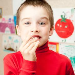 Boy with lost teeth