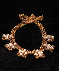 Costume jewellery from beads.