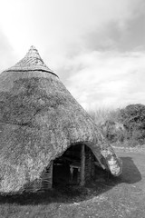 ancient gaelic thatched dwelling