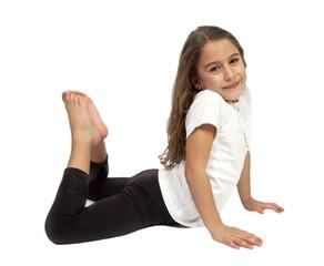 Little girl posing to cam