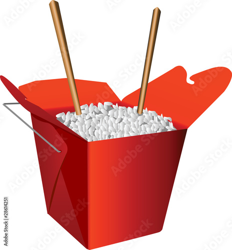Chinese To-Go Box and Chopsticks  sc 1 st  Fotolia.com : chinese to go boxes - Aboutintivar.Com