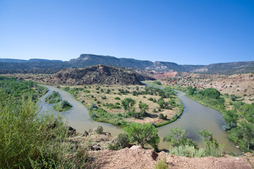 Rio Chama River Bend Jemez Mountains New Mexico