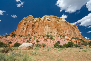 Sandstone Mesa Ghost Ranch, Aibquiu, New Mexico, Wide Angle Lens