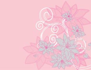 abstract tree Illustration vector spring autumn summer rosa