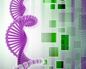 DNA in abstract design