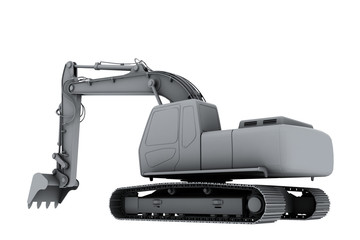 White model of the digger