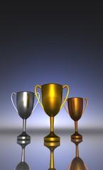 Die Drei Pokale - Gold Silber Bronze