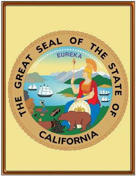 USA state california seal emblem coat