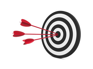 Target with three arrow