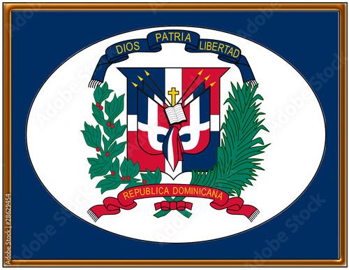 Dominican Republic National Emblem Coat Frame