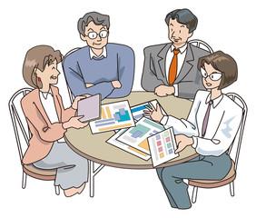 4人の会議(右下女性版)