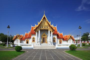 Photo sur Aluminium Lieu de culte The Marble Temple(Wat Benchamabophit ), Bangkok, Thailand